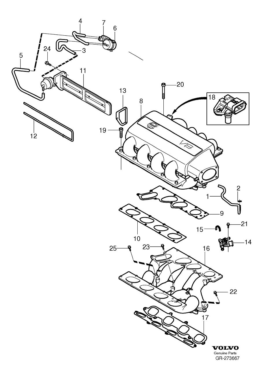 parts of a 2004 volvo c70 engine diagram